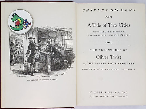 A TALE OF TWO CITIES and THE ADVENTURES OF OLIVER TWIST by Charles Dickens