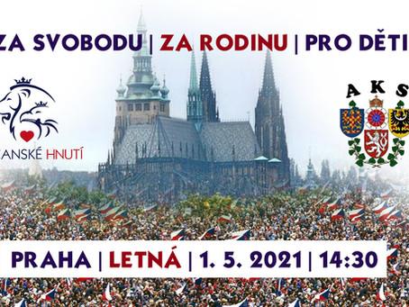 Pozvánka na akci 1. května v Praze na Letné