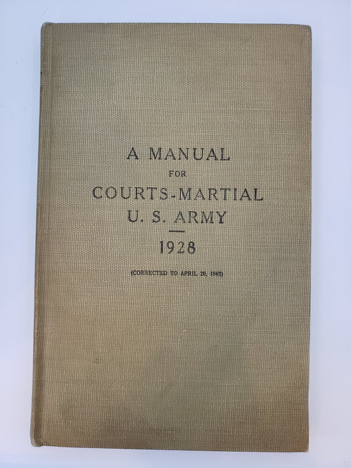 A Manual for Courts-Martial U.S. Army