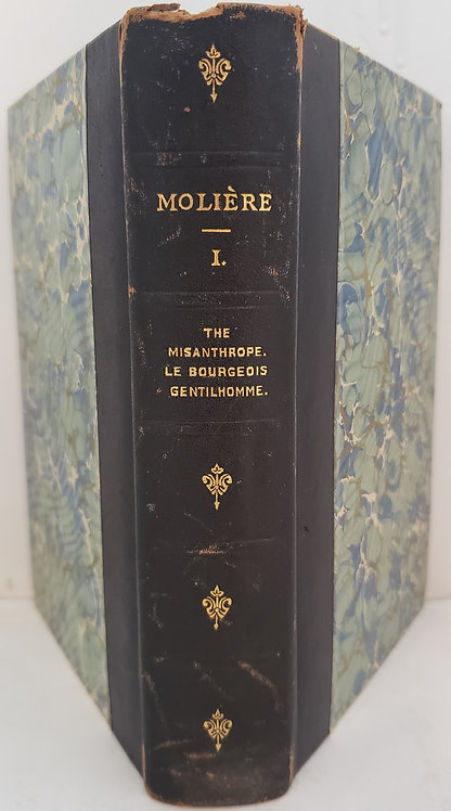 Moliere, Vol. I: The Misanthrope Le Bourgeois Gentilhomme