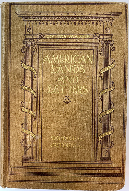 American Lands and Letters, The Mayflower to Rip-Van-Winkle by Donald G. Mitchel