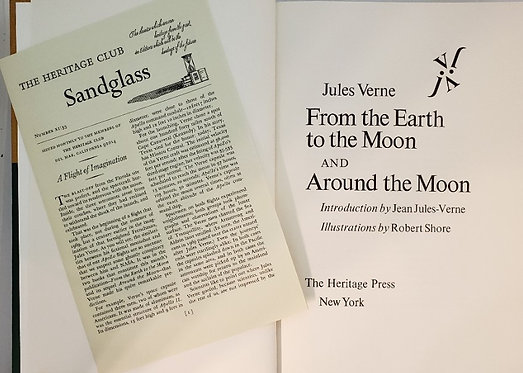 FROM THE EARTH TO THE MOON and AROUND THE MOON by Jules Verne