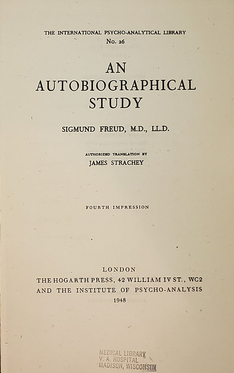 An Autobiographical Study by Sigmund Freud
