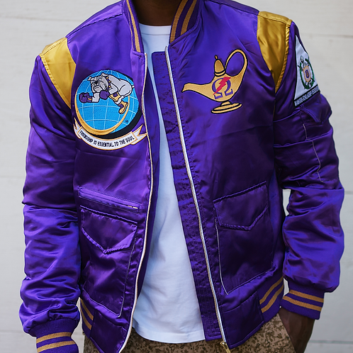 "Ques ""World Take Over"" Flight Jacket"