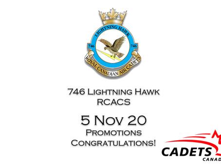 5 Nov 20 Seniors promotions - Congratulations!!