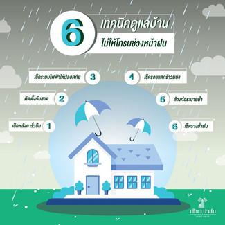 6 เทคนิคดูแลบ้าน ไม่ให้โทรมช่วงหน้าฝน