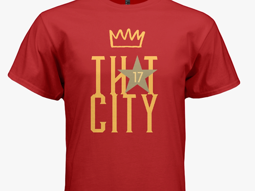 """LIMITED EDITION """"ThAt City"""" Unisex Adult Red T-Shirt"""