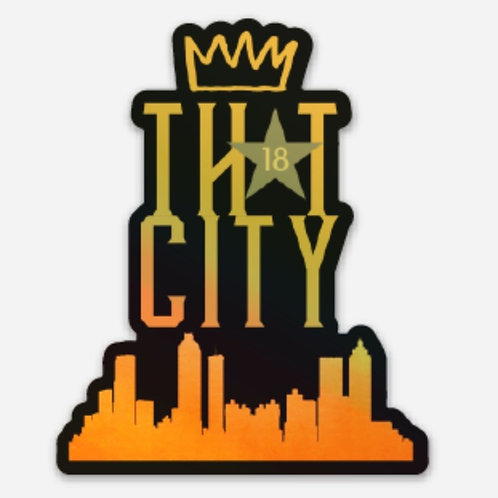 """LIMITED EDITION Holographic """"ThAt City"""" Decal"""
