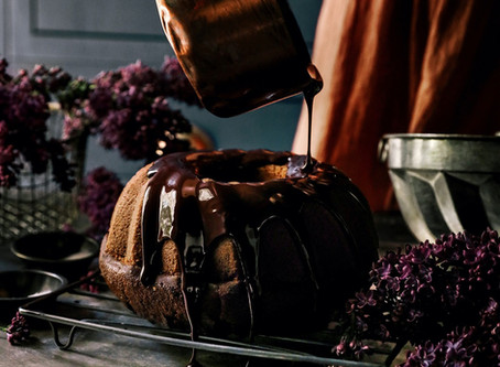 Roasted Hazelnut Chocolate Bundt Cake