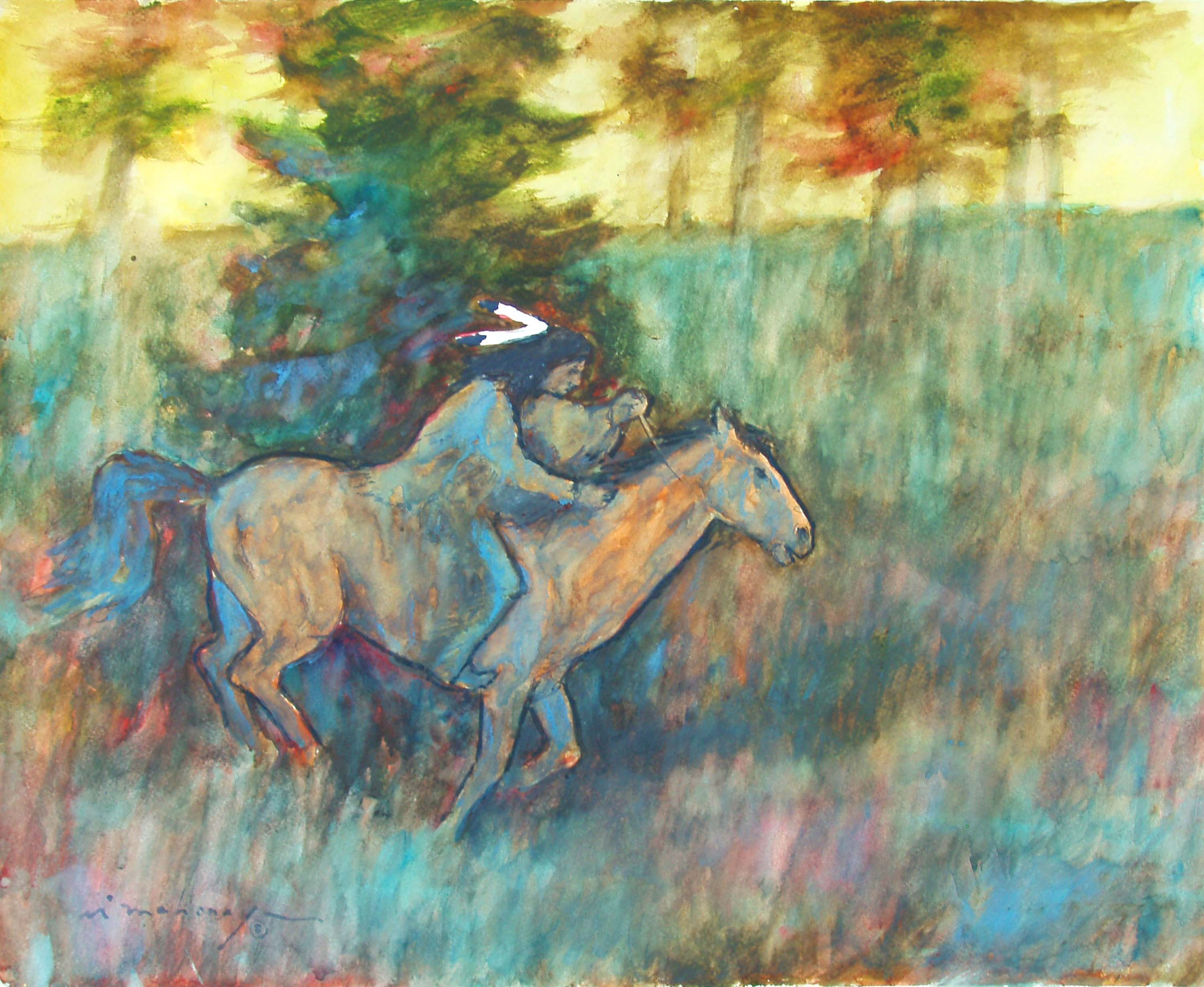 Riding In The Shadows 16x20.JPG
