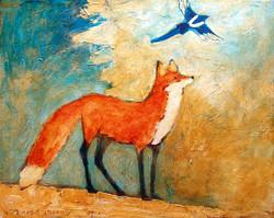 Fox Looking Up 16x20.jpg