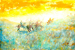 Charge into the Dawn of Time 24x36.jpg