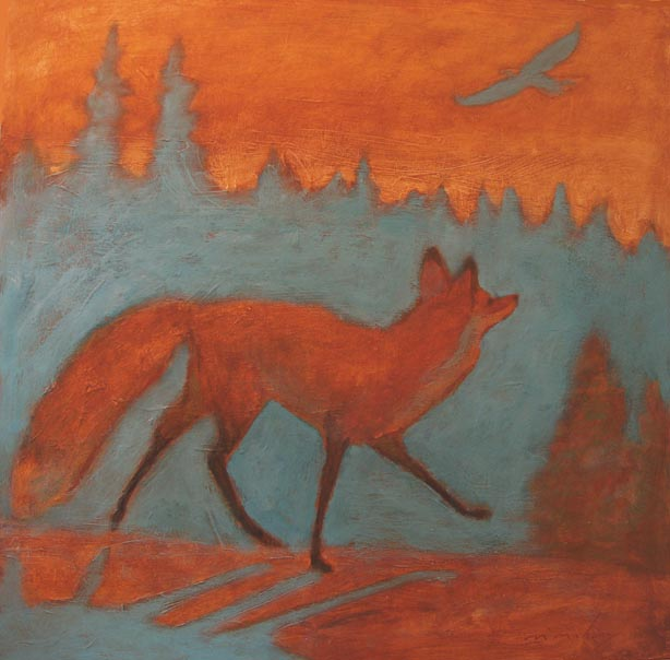 Fox and Eagle 24x24.jpg
