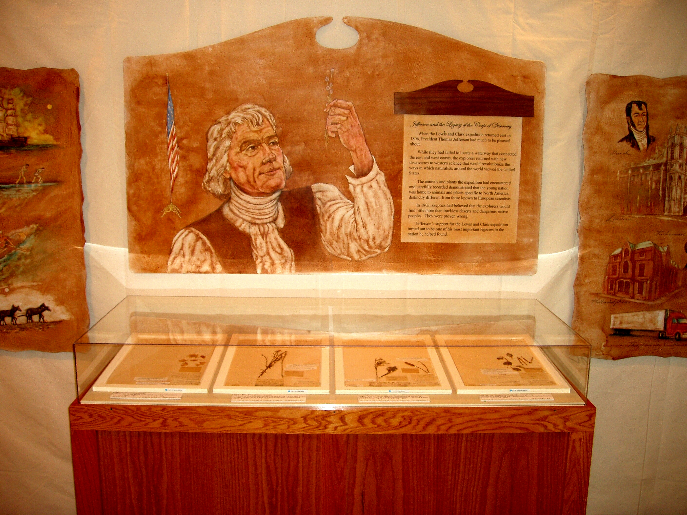 Thomas Jefferson with L&C Artifacts.JPG