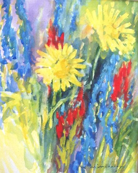 Wildflower Watercolor - 10 x 8 - 24-0318
