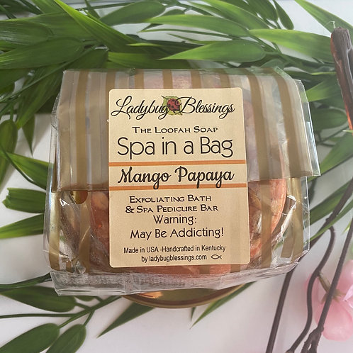 Mango Papaya Loofah Soap