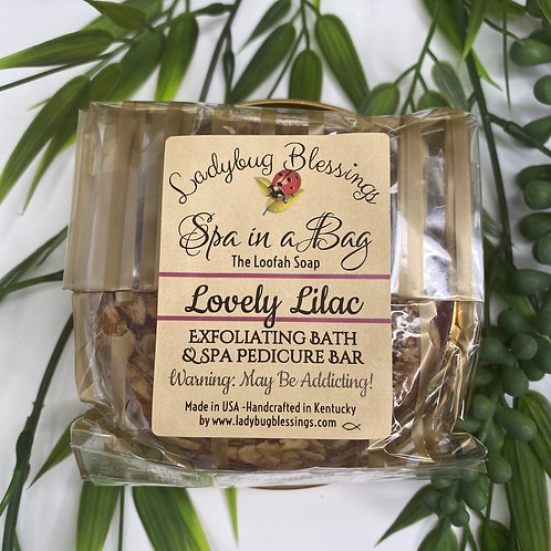 Lovely Lilac Loofah Scrub Soap