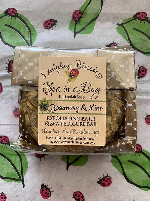 Rosemary & Mint  Loofah Soap