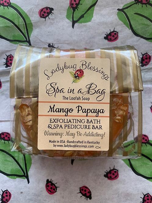 Mango Papaya Loofah Soap
