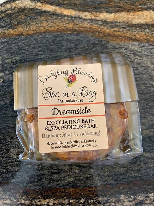 Dreamsicle Loofah Soap