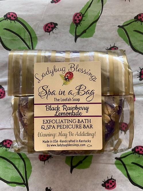 Black Raspberry Lemonade Loofah Soap
