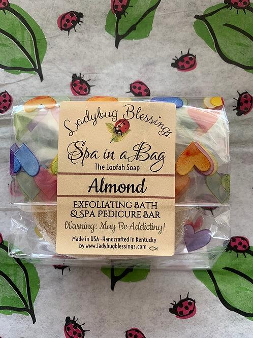 Almond Mini Loofah Soap