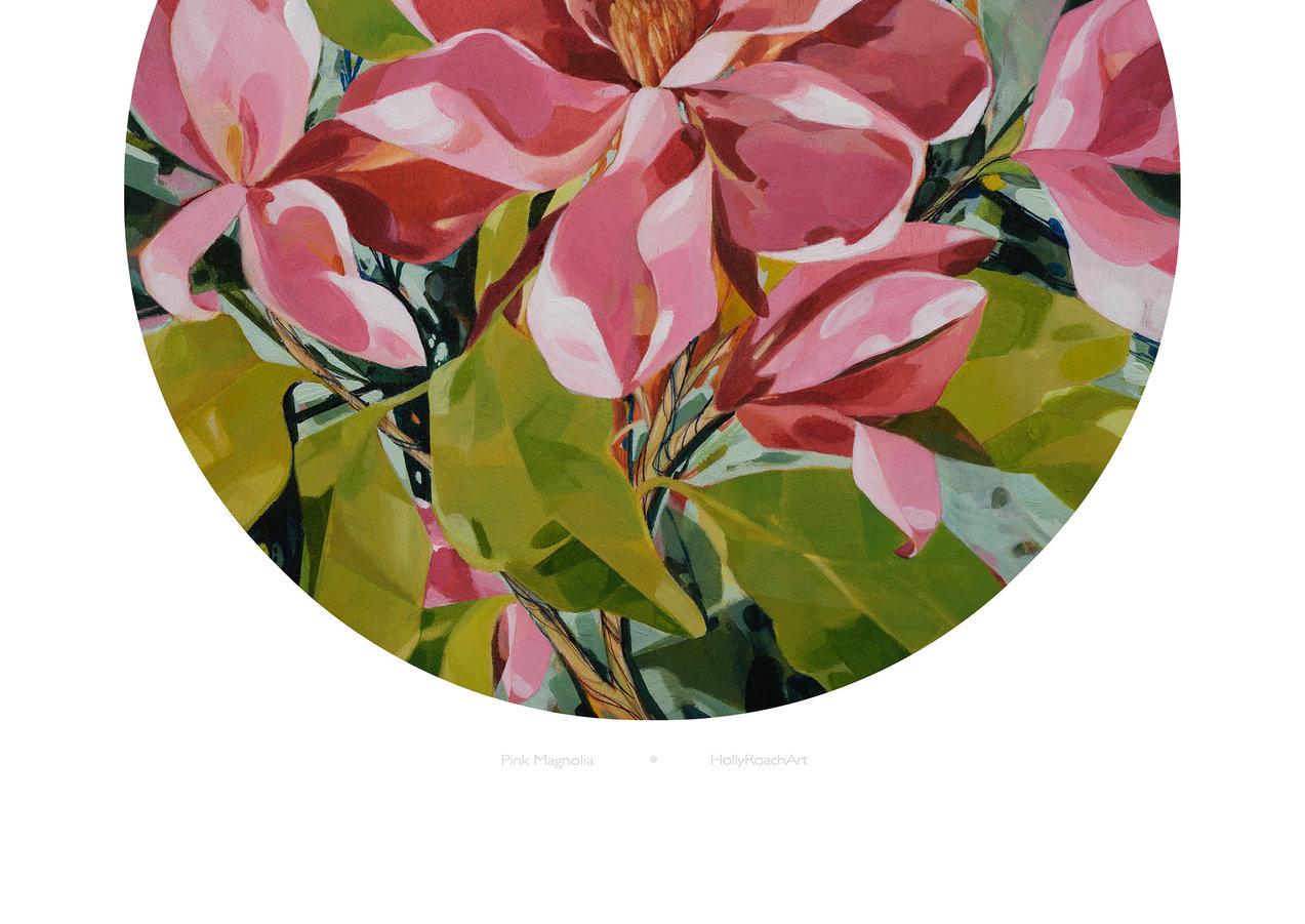 Pink Magnolia print