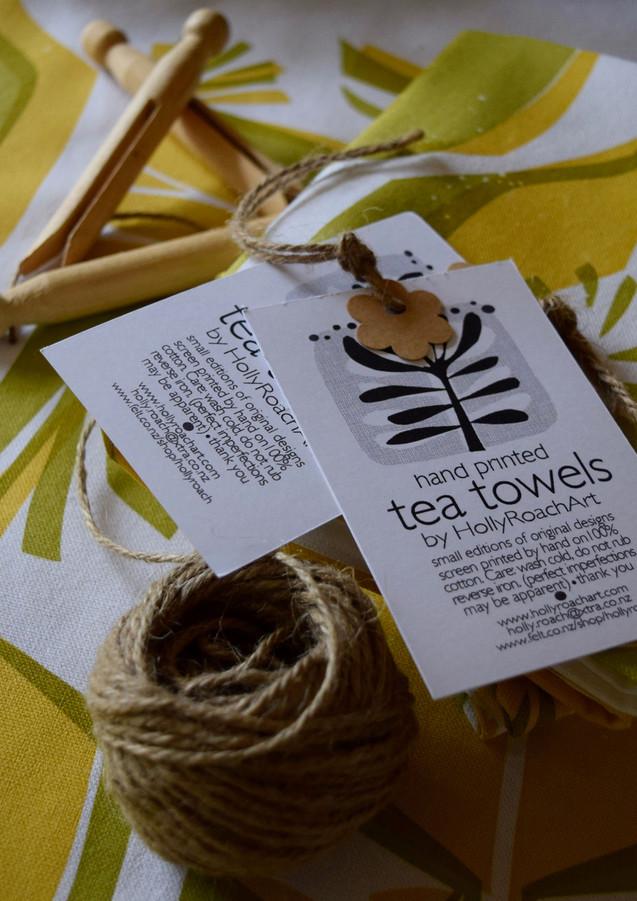 Apples + Pears tea towel