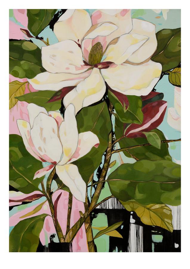 Still Life with Magnolia print