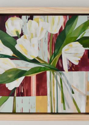White Vase with Tulips
