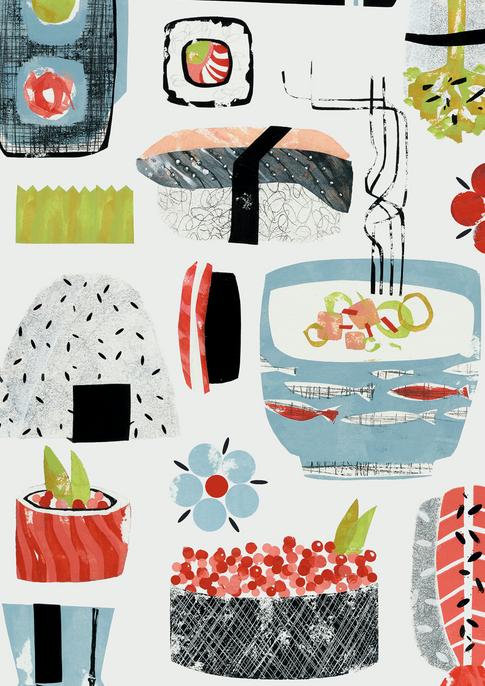 Sushi Print (detail)
