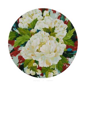 White Peonies print