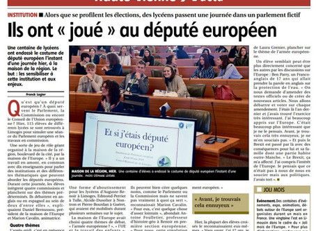 Compte rendu Journée de simulation du Parlement Européen