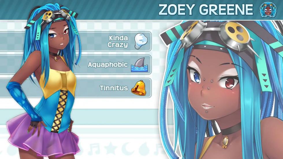 Zoey in Huniepop 2