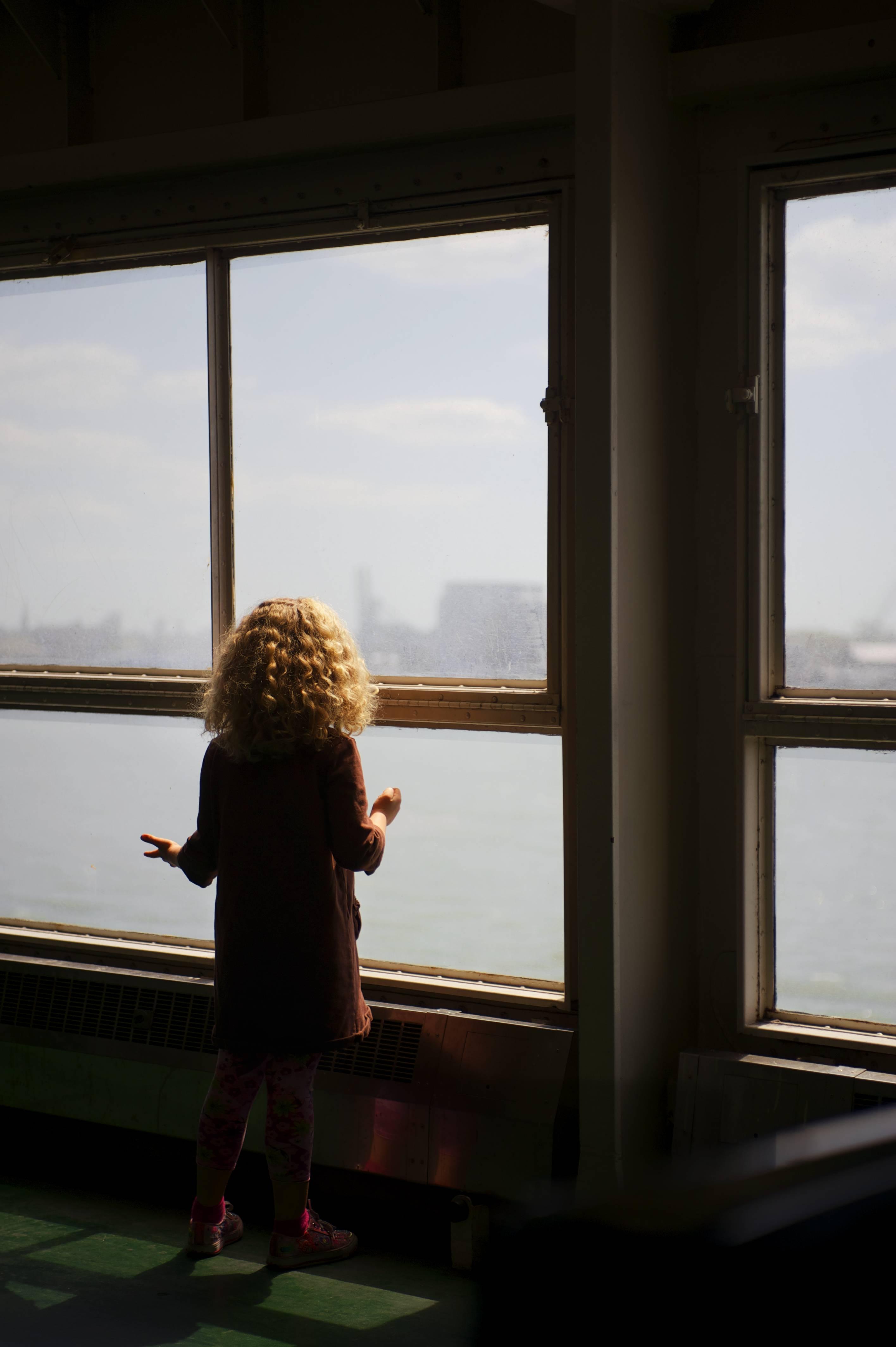 Golden Hair on Staten Island Ferry