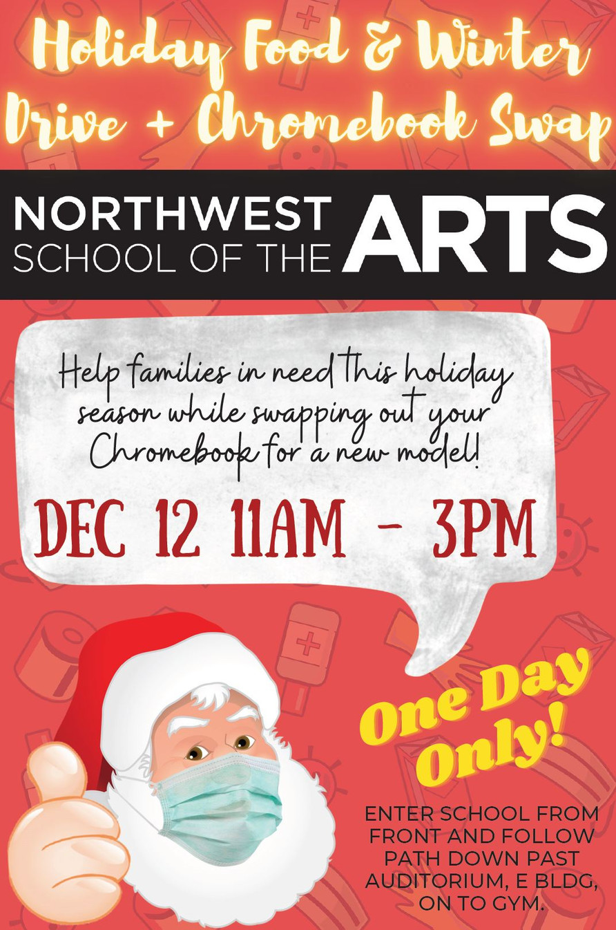 NWSA Holiday Food Drive & Chrome Swap - this Saturday December 12, 11am-3pm