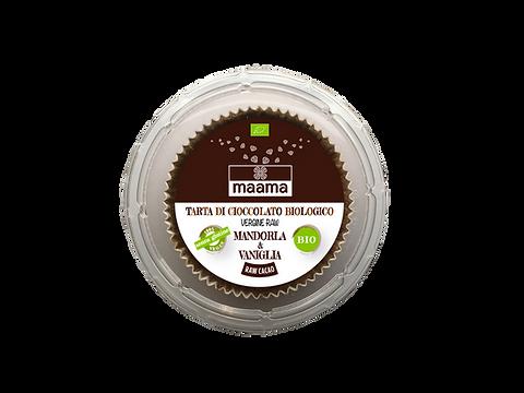 Tarta di cioccolato vergine raw - mandorle e vaniglia