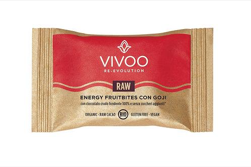 Energy Fruitbite con bacche di goji e cioccolato fondente 100%