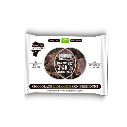 CIOCCOLATO BIOLOGICOCON PROBIOTICI 75%