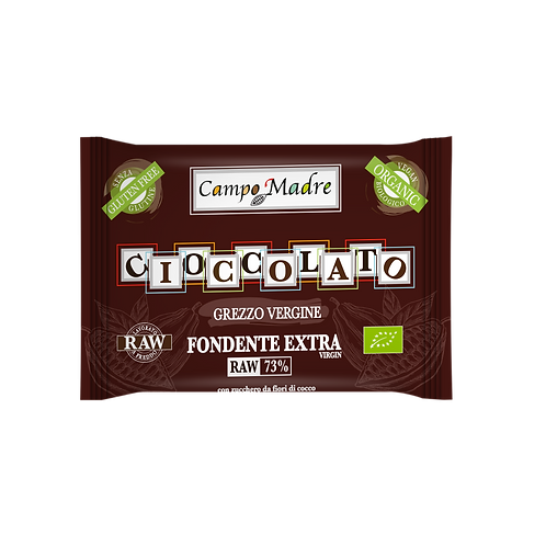 CIOCCOLATO GREZZO VERGINE Fondente Extra 73%