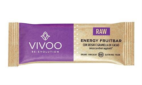 Energy Fruitbar con reishi e granella di cacao