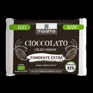 Cioccolato crudo vergine fondente extra 85%