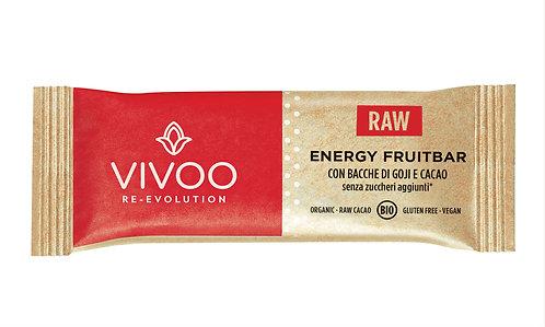 Energy Fruitbar con bacche di goji e cacao