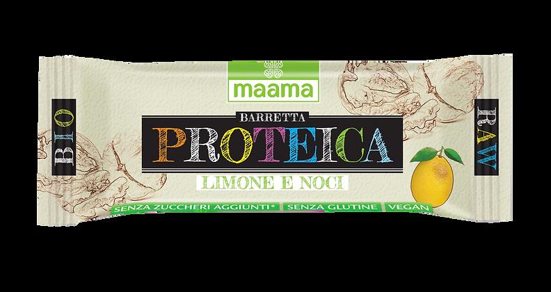 Barretta proteica di frutta - limone e noci