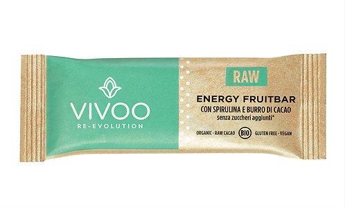 Energy Fruitbar con spirulina e burro di cacao