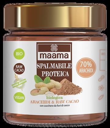 Spalmabile proteica biologica - arachidi e raw cacao