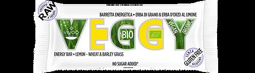 Energy bar con erba di grano e d'orzo al limone