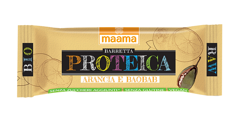Barretta proteica di frutta - arancia e baobab