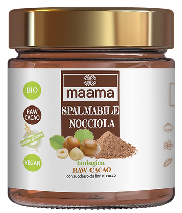 Spalmabile biologica - nocciola 28% e raw cacao