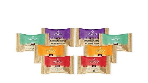 Mixed box 2pc per Energyfruit bites con cioccolato fondente 100%